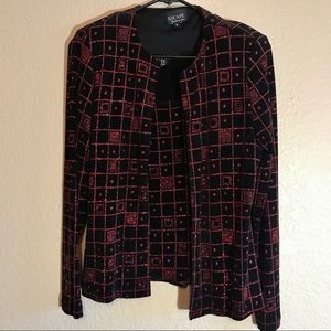 Vintage red and black glitter 2-piece set, size s
